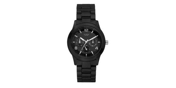 Dámske čierne analogové hodinky Guess