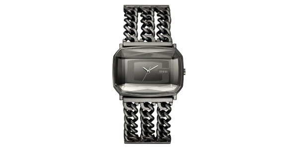Dámske šedé retiazkové hodinky Guess