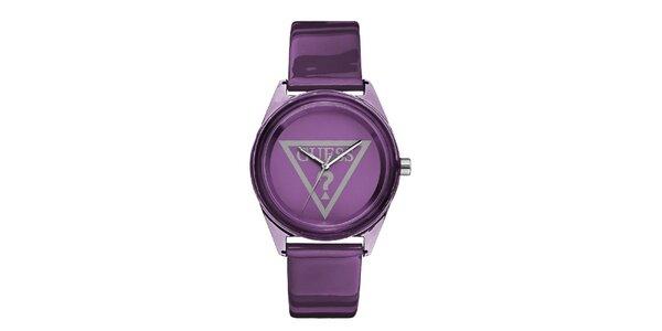 Dámske fialové analogové hodinky Guess