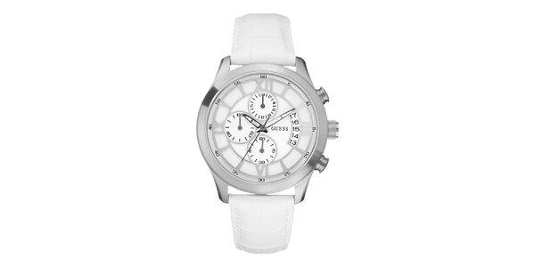 Pánske biele analogové hodinky Guess 1684539c39