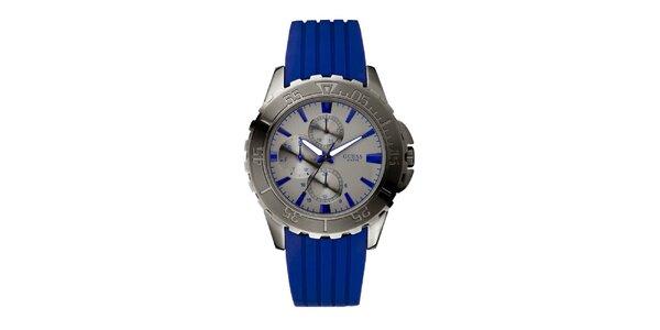 Pánske modré analogové hodinky Guess