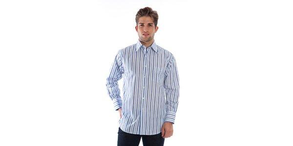 Pánska modro-biela pruhovaná košeľa Cristian Lay