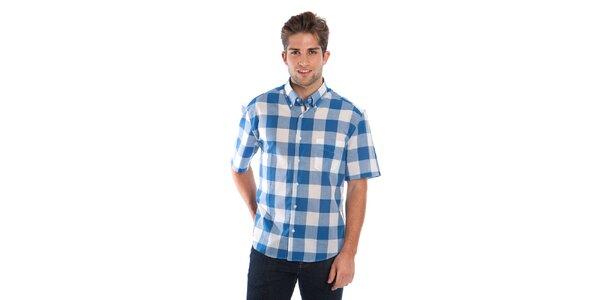 Pánska modro-biela kockovaná košeľa Cristian Lay