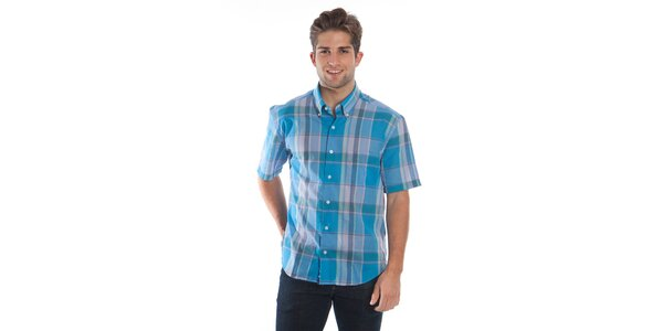 Pánska modro-zelená kockovaná košeľa Cristian Lay