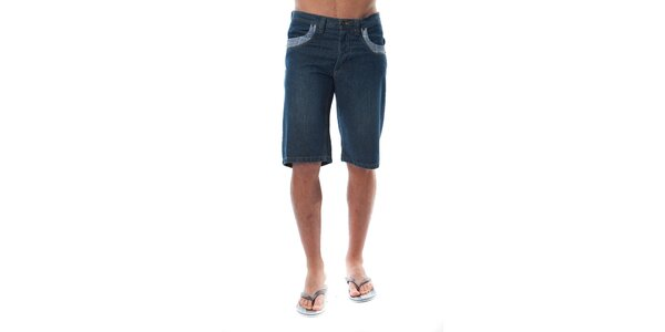 Pánske modré džínsové bermudy Cristian Lay