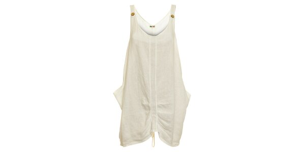 Dámske biele ľanové šaty Puro Lino