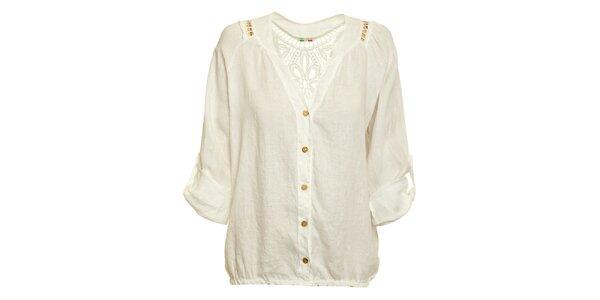 Dámska biela ľanová košeľa Puro Lino