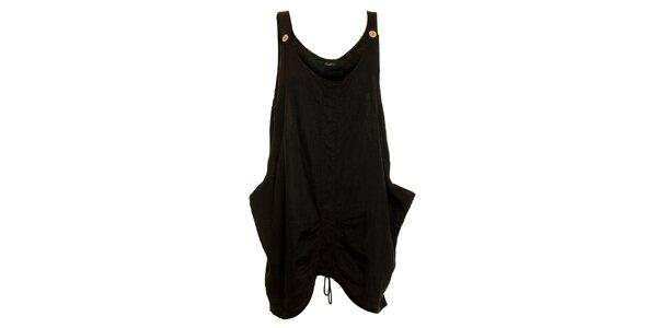 Dámske čierne ľanové šaty Puro Lino