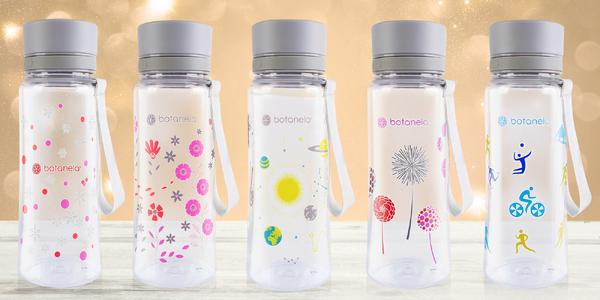 Fľaša na vodu Botanela 600 ml v 12 rôznych motívoch