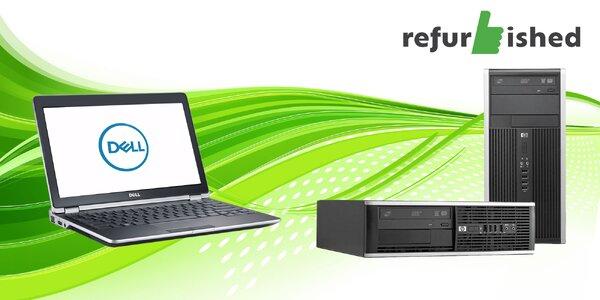 Špičkové renovované PC značky Refurbished