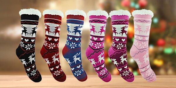 Tie pravé teplé vianočné ponožky