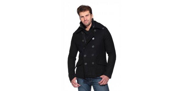 Pánsky čierny kabát Superdry