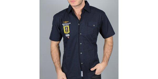 Pánska tmavo modrá košeľa Auronautica Militare