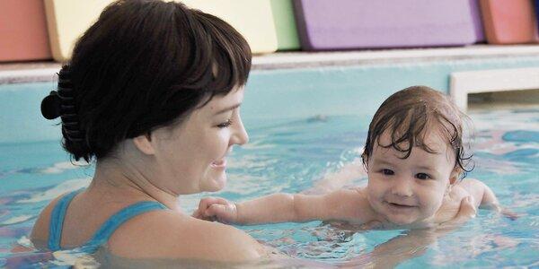 """Kurz """"plávania"""" detí vo veku od 4 mesiacov až 3 rokov"""
