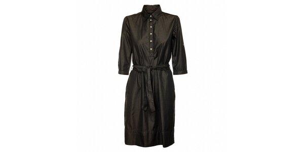 Dámske čierne bavlnené šaty Pietro Filipi