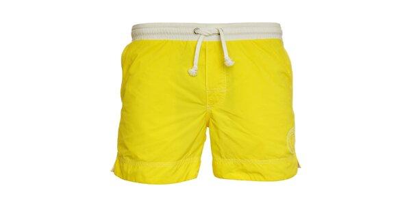Pánske žiarivo žlté kúpacie šortky Pietro Filipi