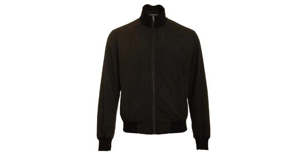 Pánska čierna jarná bunda Pietro Filipi