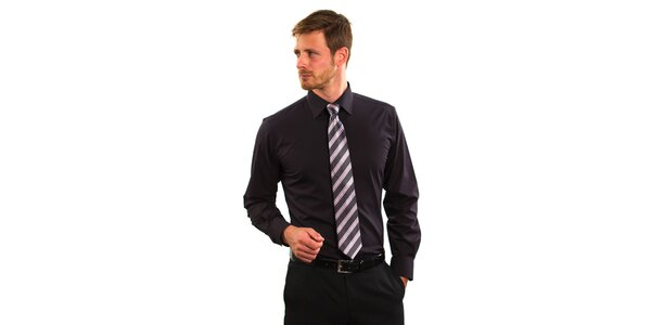 Pánska čierna košeľa Vincenzo Boretti