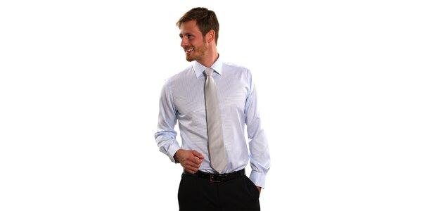 Pánska modro-biela kostičkovaná košeľa Vincenzo Boretti