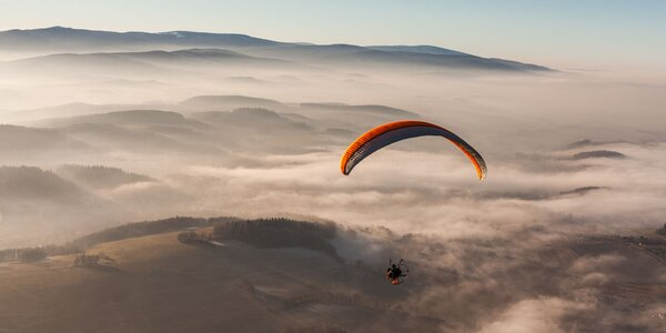 Motorový tandem paragliding - zážitkový darček