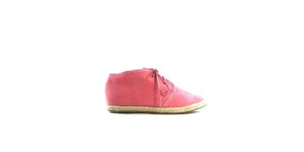 Dámske ružové semišové tenisky Shoes in the City