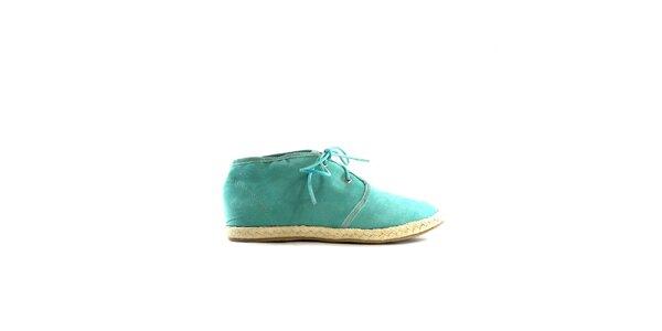 Dámske zelené semišové tenisky Shoes in the City