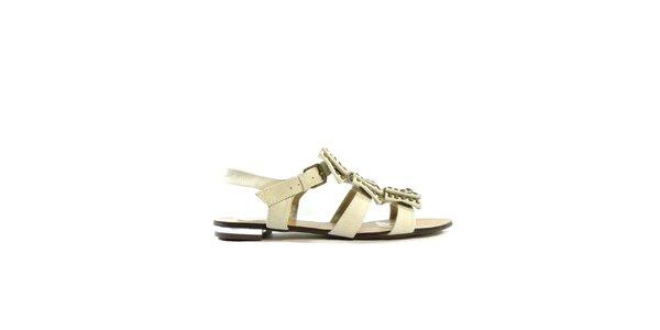 Dámske béžové gladiátorky s cvočkami Shoes in the City