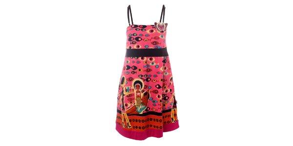 Dámske ružové šaty s motýlom Savage Culture