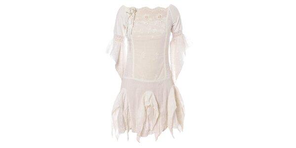 Dámske biele šaty Savage Culture s čipkou