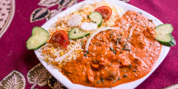 Butter chicken s bashmati ryžou