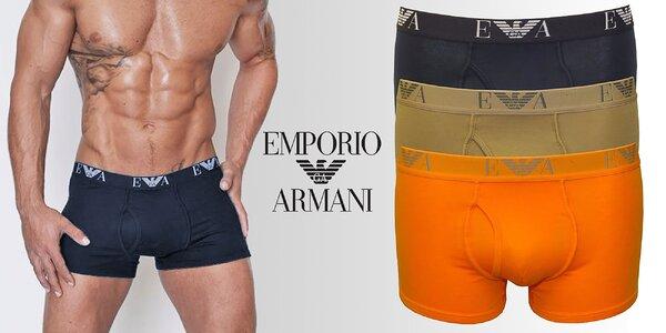 Set 3 komfortných boxeriek Emporio Armani