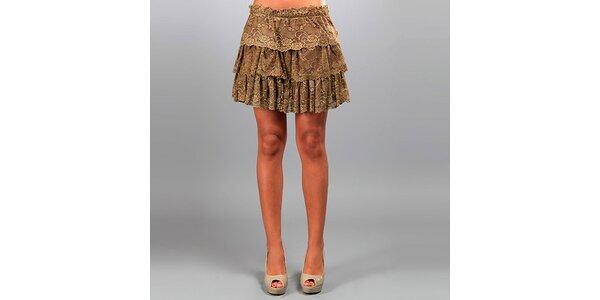 Dámska hnedá čipková sukňa Des Si Belles