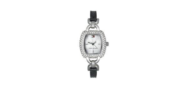Dámske náramkové hodinky Tommy Hilfiger s čiernym remienkom