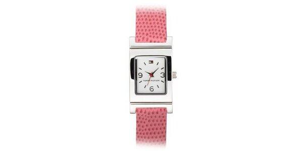 Dámske oceľové náramkové hodinky Tommy Hilfiger s lososvým remienkom
