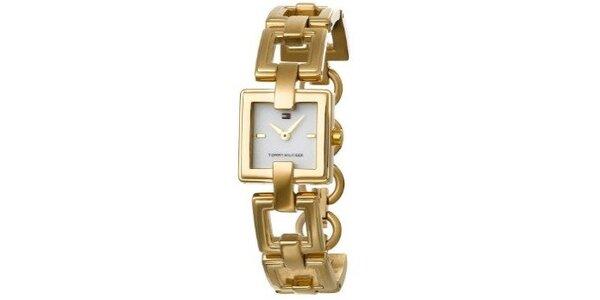 Dámske zlaté náramkové hodinky Tommy Hilfiger