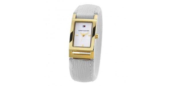 Dámske zlato-šedé náramkové hodinky Tommy Hilfiger