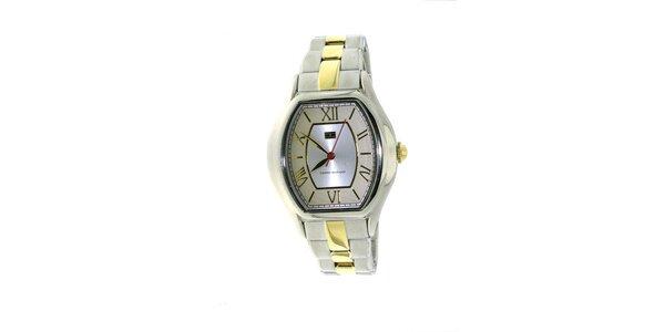 Dámske béžovo-zlaté náramkové hodinky Tommy Hilfiger