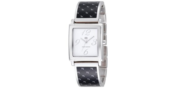 Dámske čierno-strieborné náramkové hodinky Tommy Hilfiger