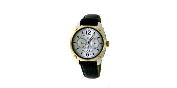 Dámske čierno-zlaté náramkové hodinky Tommy Hilfiger