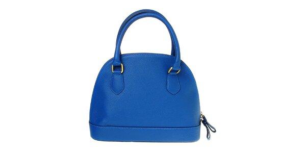 Dámska královsky modrá kožená kabelka