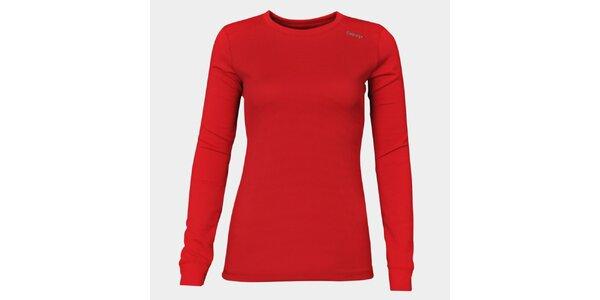 Dámske červené funkčné tričko Sweep s dlhým rukávom