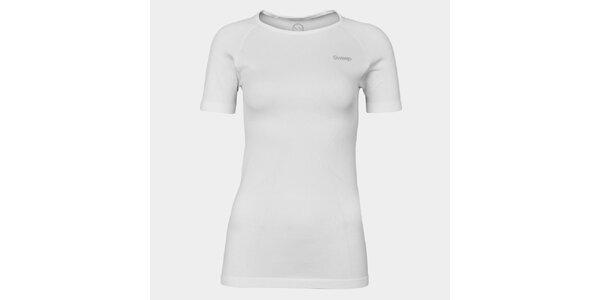 Dámske biele bezošvové tričko Sweep