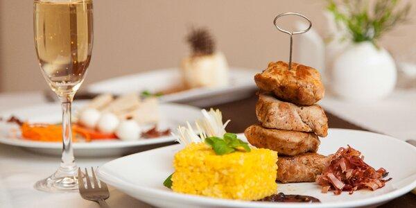3-chodové menu s aperitívom: panenka a rizoto