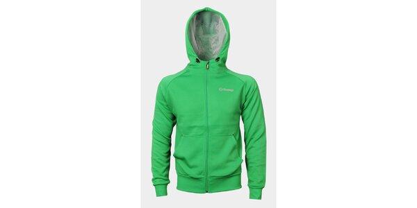 Pánska zelená mikina Sweep s kapucňou