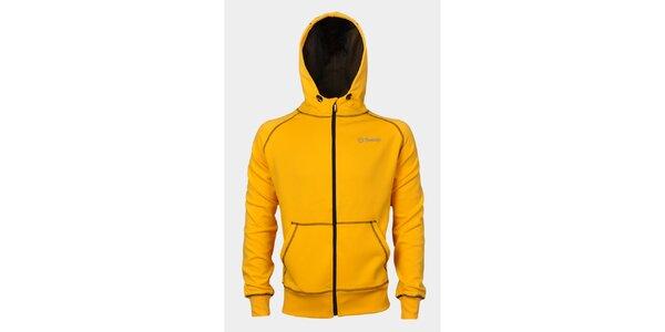 Pánska žltá mikina Sweep s kapucňou
