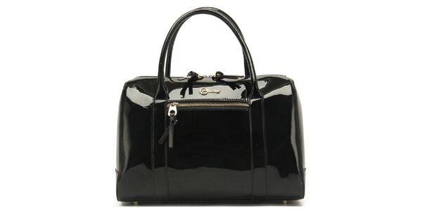 Dámska lesklá čierna kabelka Florian London