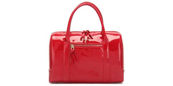 Dámska lesklá červená kabelka Florian London