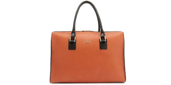 Dámska kožená oranžová kabelka Florian London