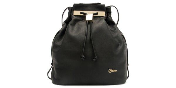 Dámska čierna kožená kabelka Florian London
