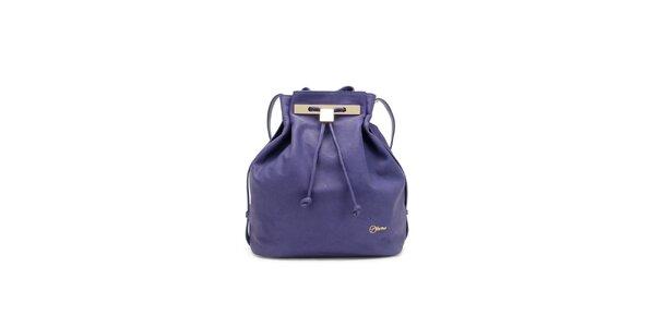 Dámska fialová kožená kabelka Florian London